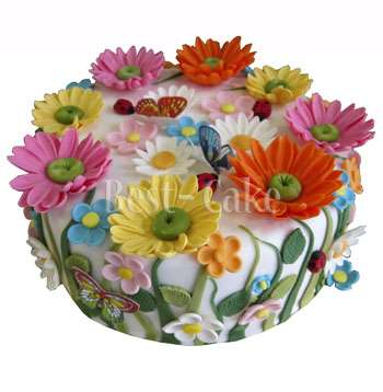 Торты цветочная поляна фото